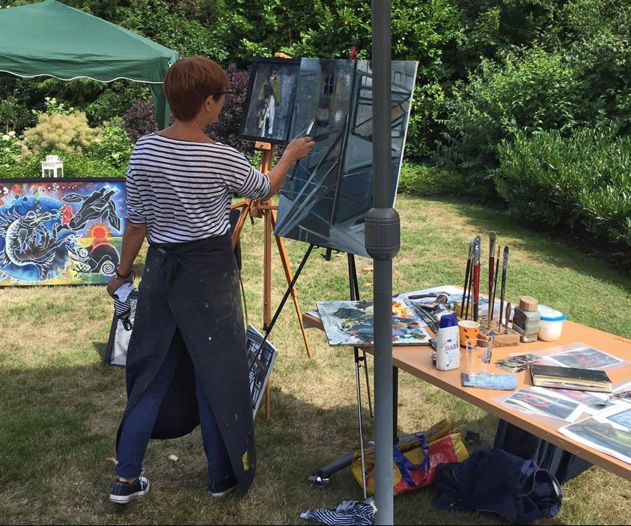Over Len Kramer. Kunst Len Art: schilderen tijdens Goors Montmartre.