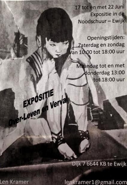 Expositie Over-Leven en Verval - Ewijk - flyer- Len Art - Len Kramer